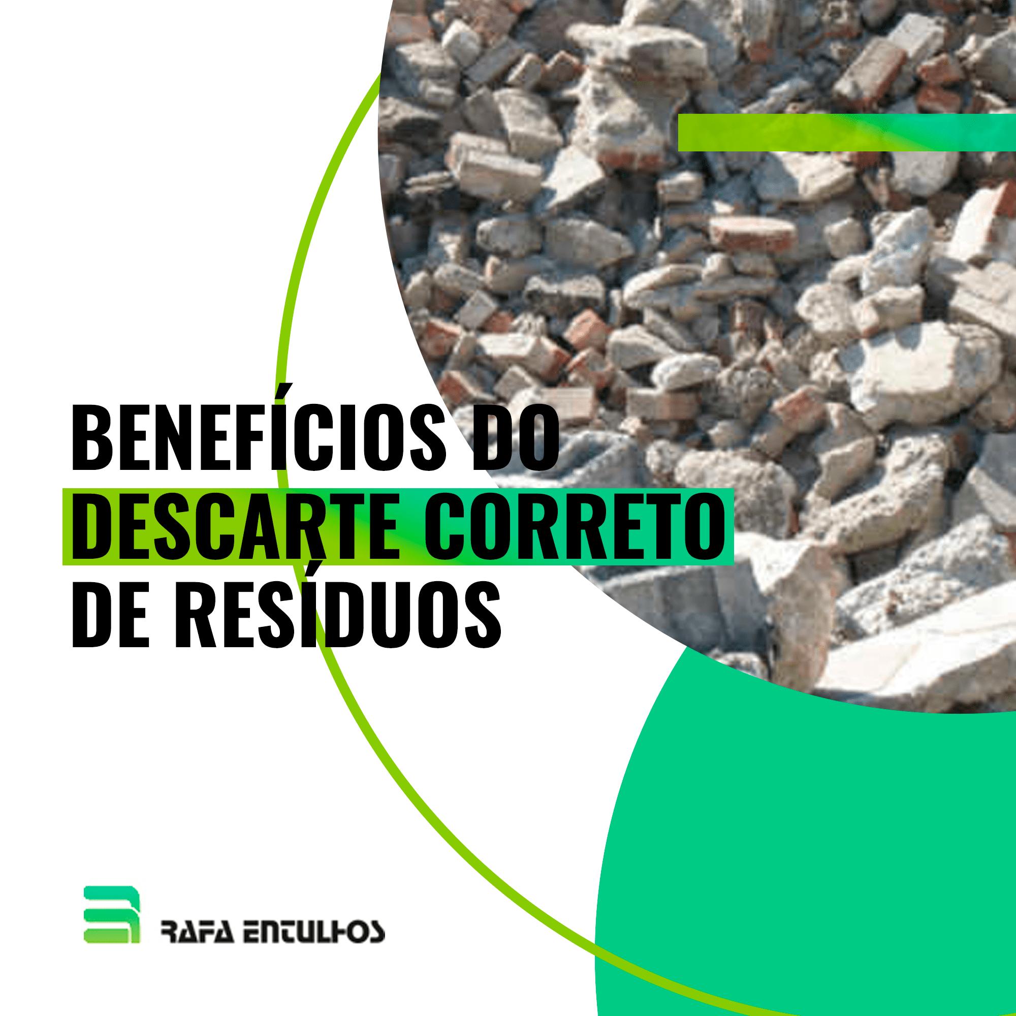 Benefícios do descarte correto de resíduos